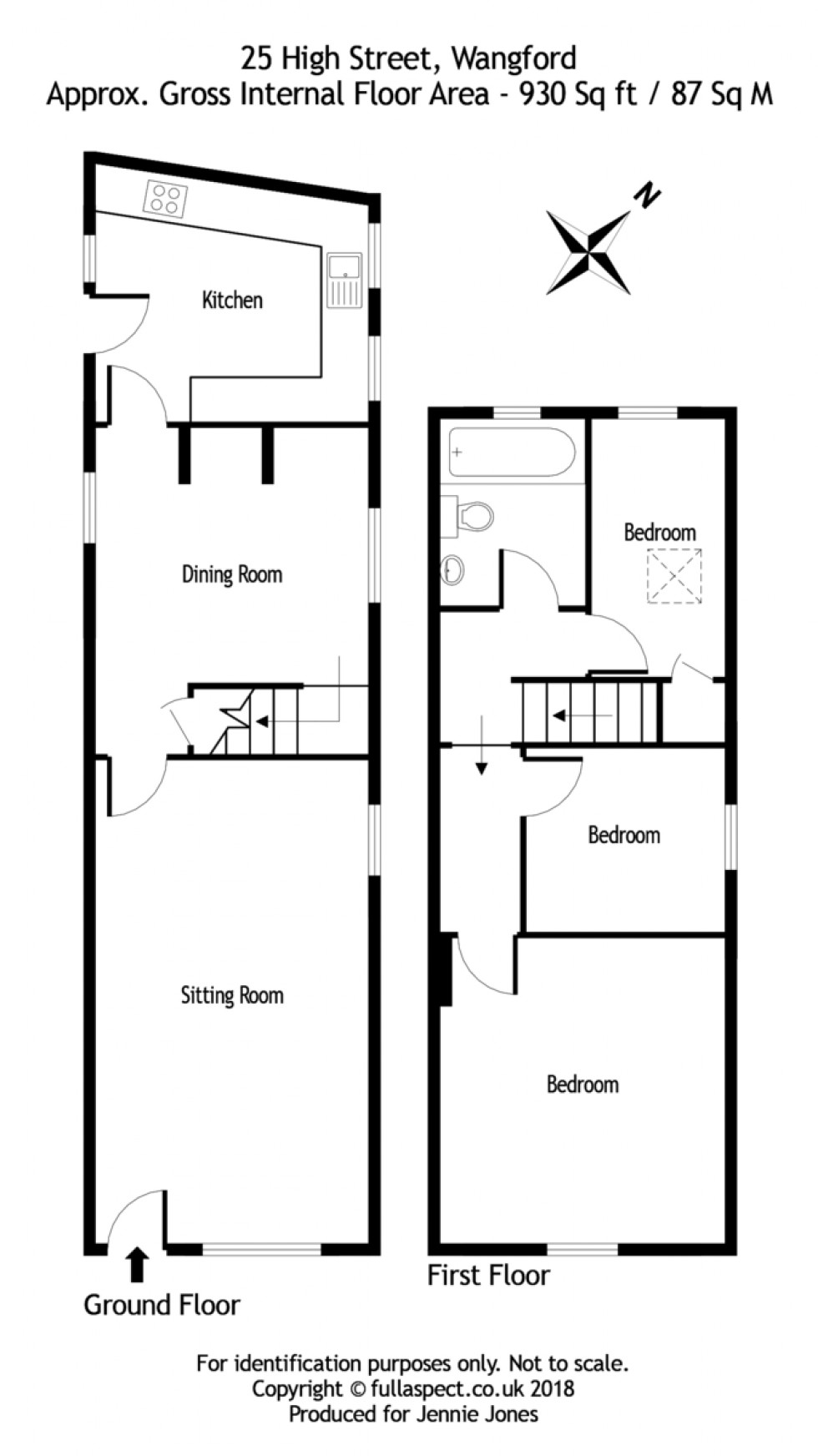 Floorplan for 25 High Street, Wangford