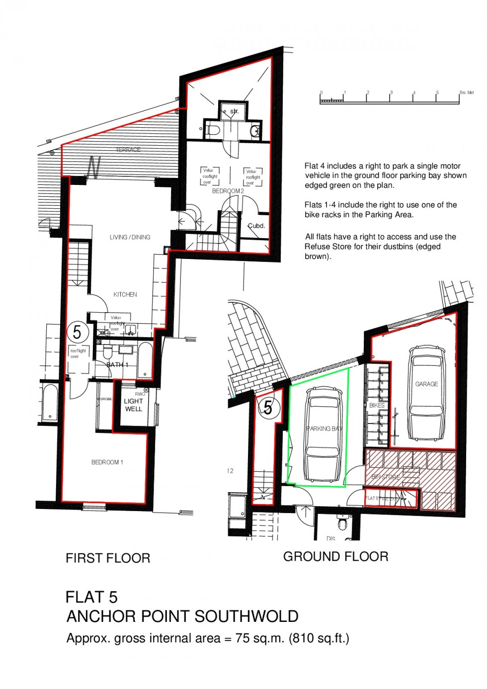 Floorplan for Flat No 5, Anchor Point, Southwold