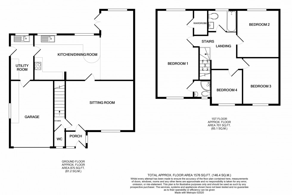 Floorplan for Kingfisher Crescent, Reydon, Nr Southwold